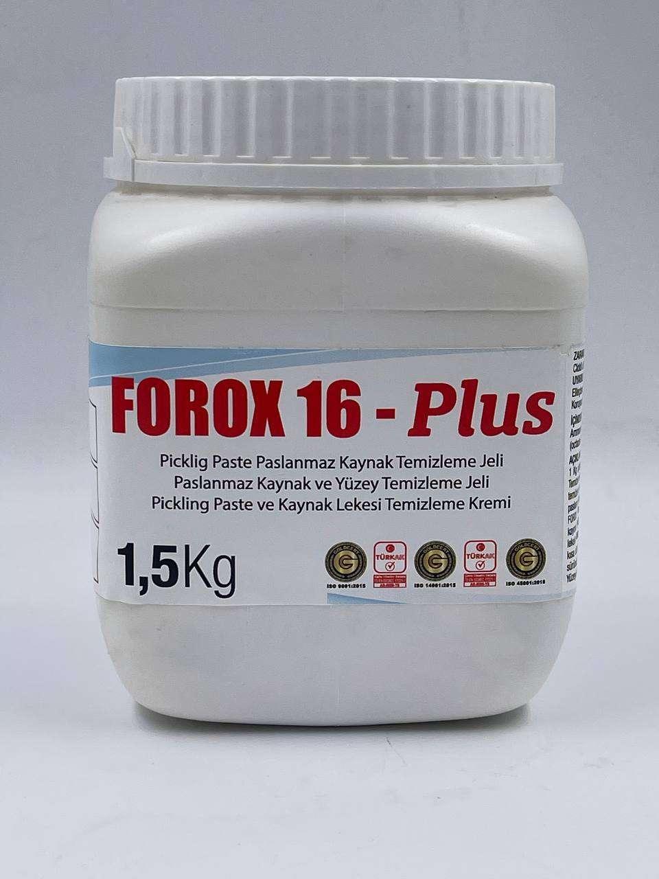 Paslanmaz kaynak temizleme jeli FOROX 16-Plus