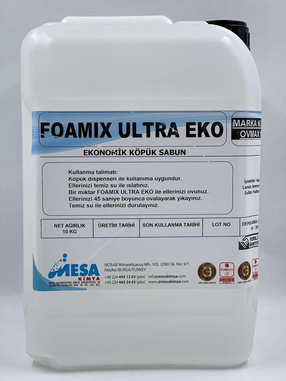 Foamıx ultra eko ekonomik köpük sabun