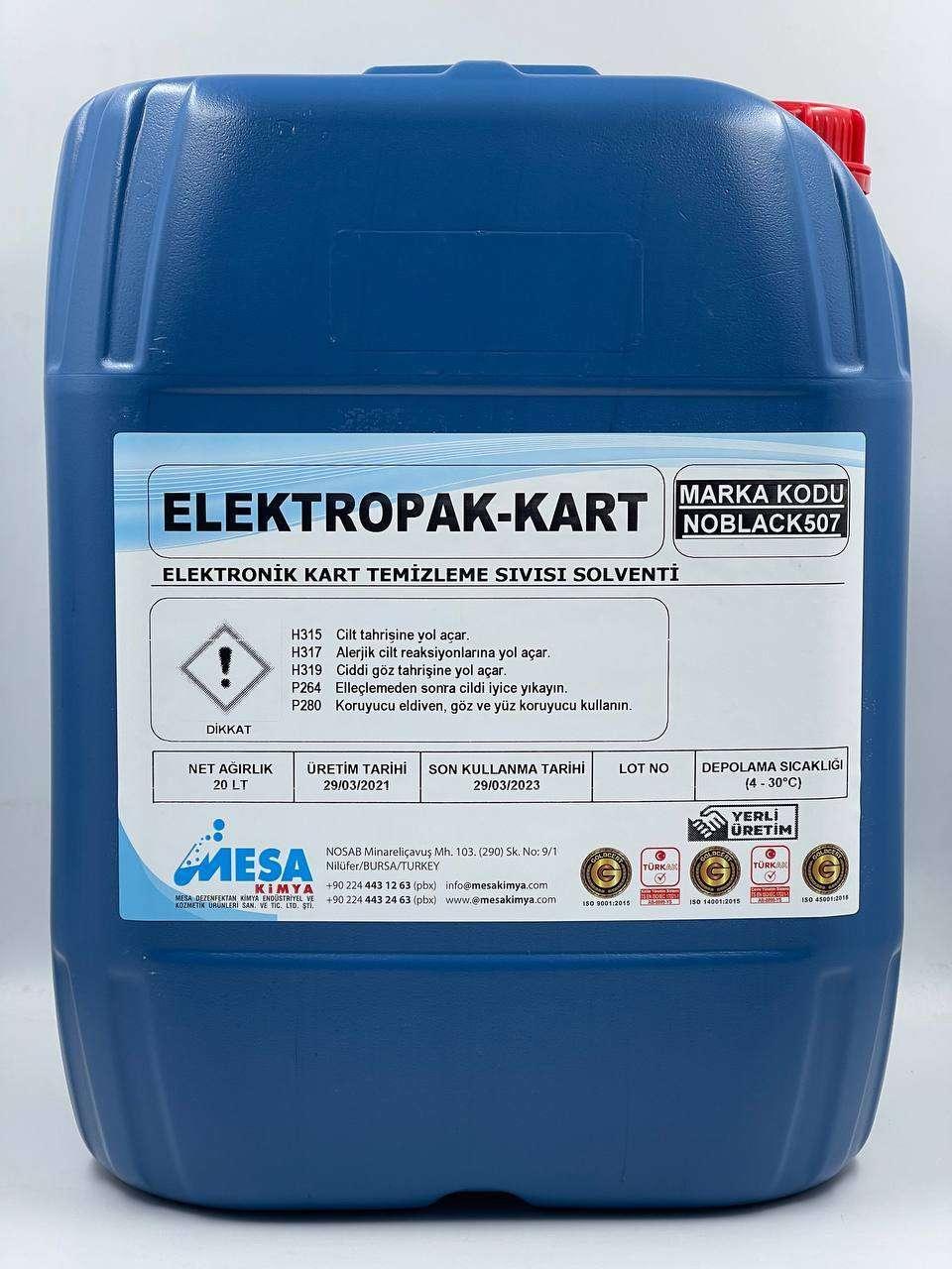 Elektronik kart temizleme sıvısı ElektropaK-Kart