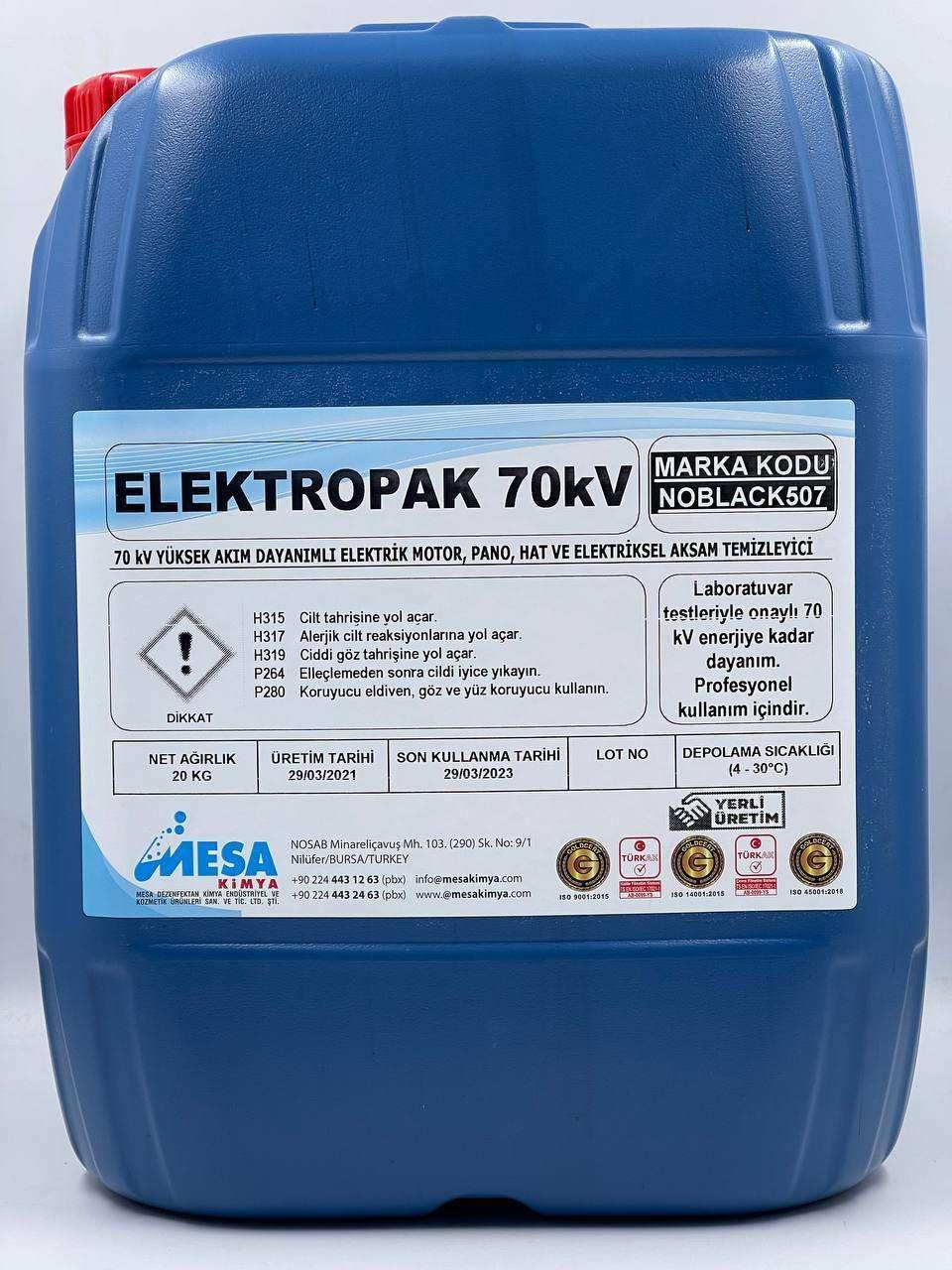 Elektrik Motor Pano Temizleyici 70000 Volt dayanımlı Elektropak70kV