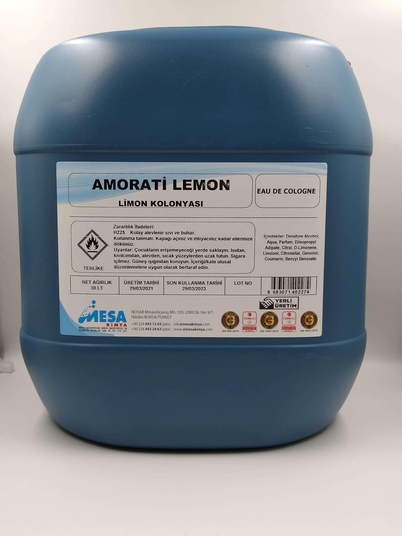 Limon kolonya 30 litre