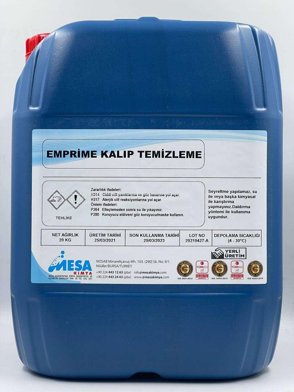 Emprime kalıp temizleme solventi EMPISOL