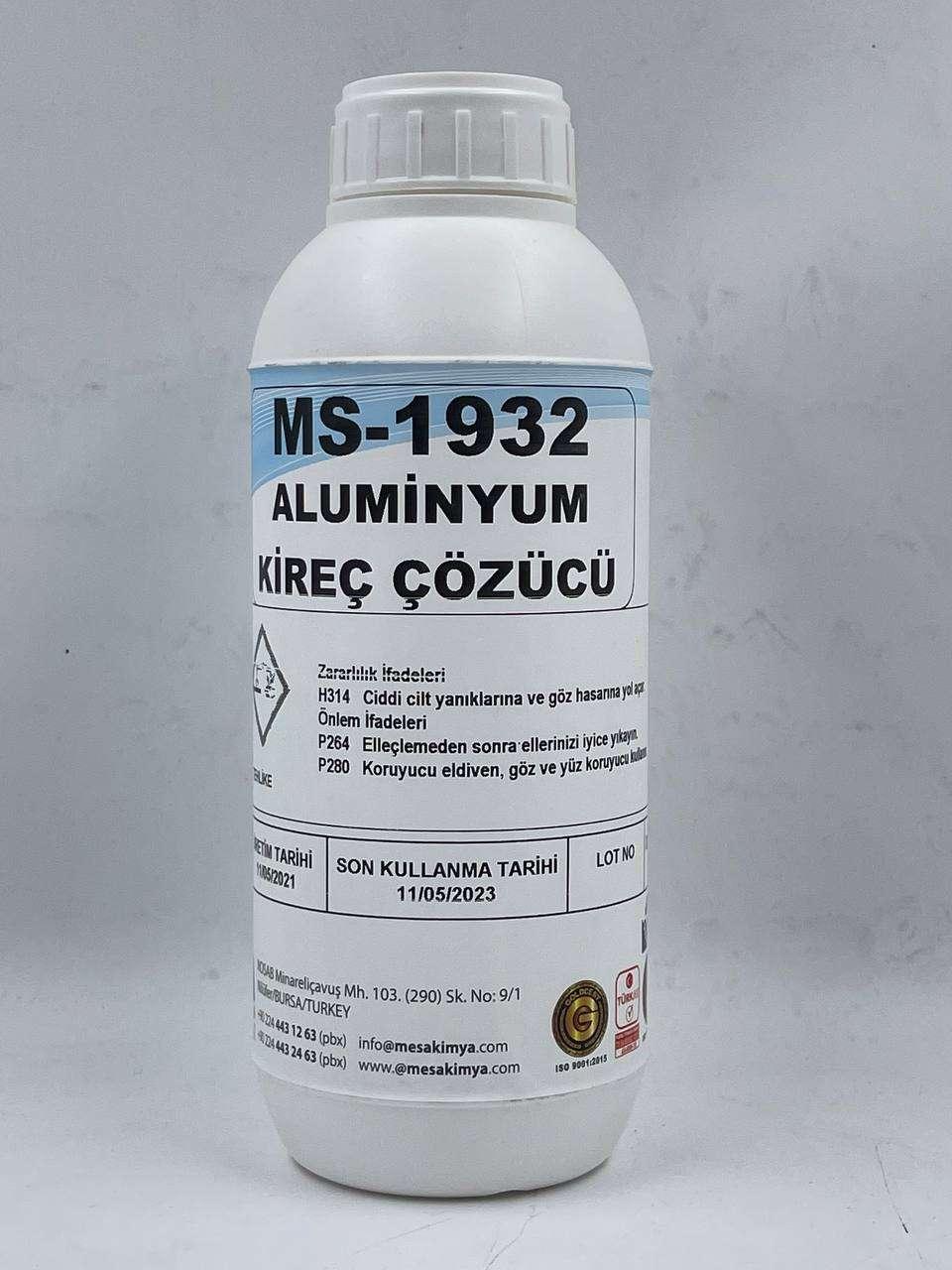 Alüminyum kireç çözücü
